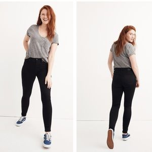 """Madewell 10"""" High Rise Skinny Jeans Black Size 29"""